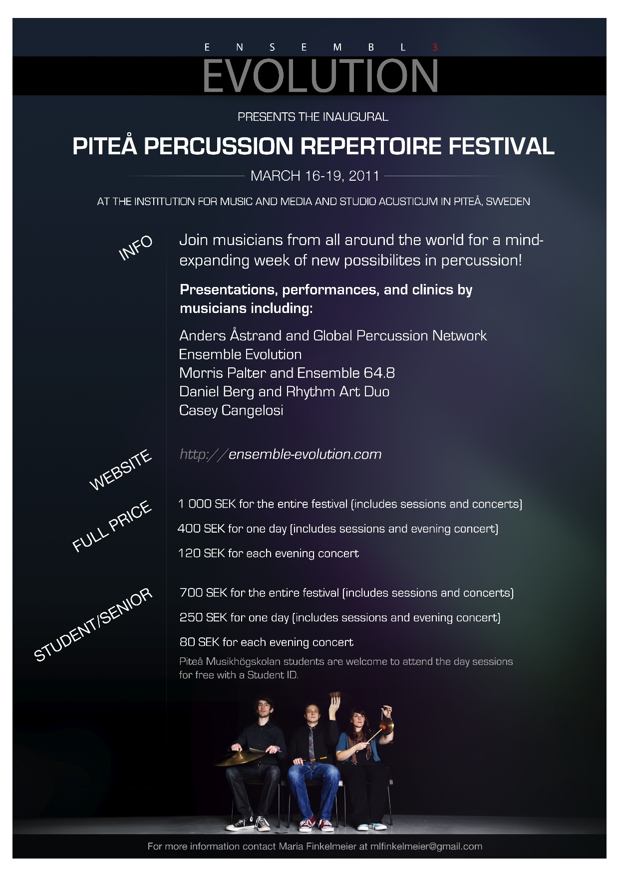 Poster from the Piteå Percussion Repertoire Festival